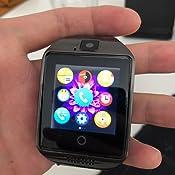 Smartwatch con Whatsapp,Bluetooth Smart Watch Pantalla Táctil,Reloj Inteligente Hombre,Impermeable Smartwatches (Negro-11)