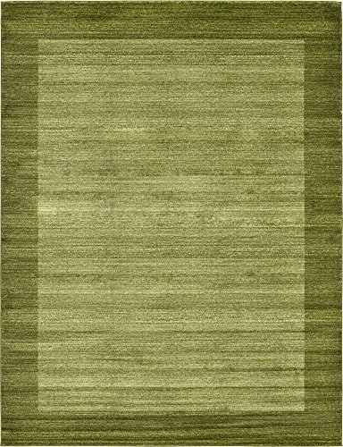 Unique Loom Del Mar Collection Contemporary Transitional Light Green Area Rug (9