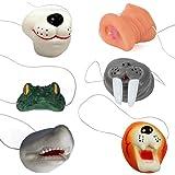 6 种不同的动物鼻子 - 6 只装动物系列鼻罩