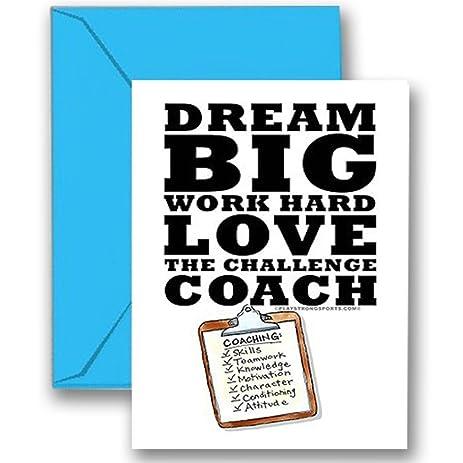 Amazon thanks coach dream big 3 pack sports powercard quotdream bigquot 3 pack sports powercard greeting cards m4hsunfo