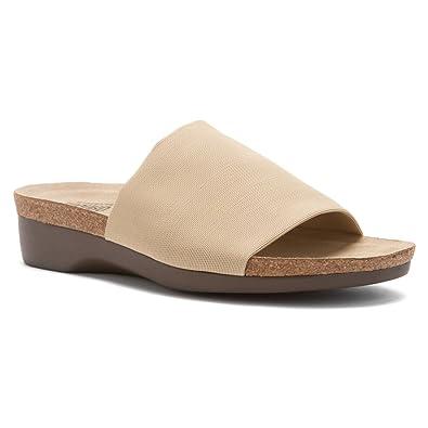 Women's Slide Sandals/Munro Aquarius II Coconut Stretch Fabric