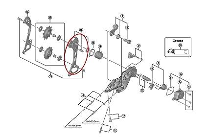 Amazon com : Shimano SLX M7000-11-GS Rear Derailleur Outer