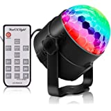 YouOKLight 6 Color Sound Activated Party Lights with Remote Control Dj Lighting,RBG Disco Ball Light, Strobe Lamp 7…
