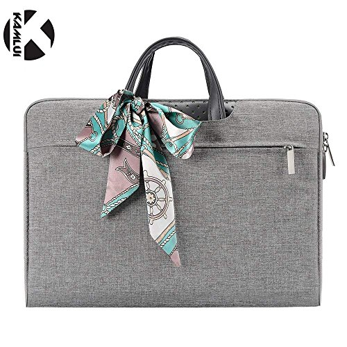 Kamlui Laptop Bag 15.6 Inch - for Women Slim Cute Waterproof Notebook Briefcase Tote Bag Ladies Men Small Briefcase - for MacBook Air Dell Lenovo Asus HP Samsung-Laptop Computer Case.