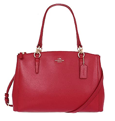 Coach Crossgrain Christie Carryall - Classic Red
