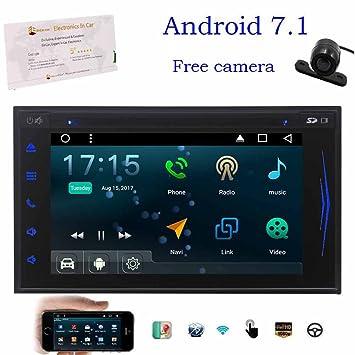 Actualizar GPS Android 7.1 Octa-Core coches reproductor de DVD de seguimiento de 7 capacitiva estéreo ...