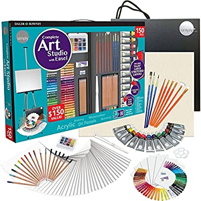 Simply Daler Rowney complete Art Studio With Easel 150 Pieces