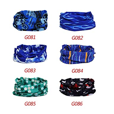 6 piezas fijadas elásticas impresas pañuelo toallita unisex ...