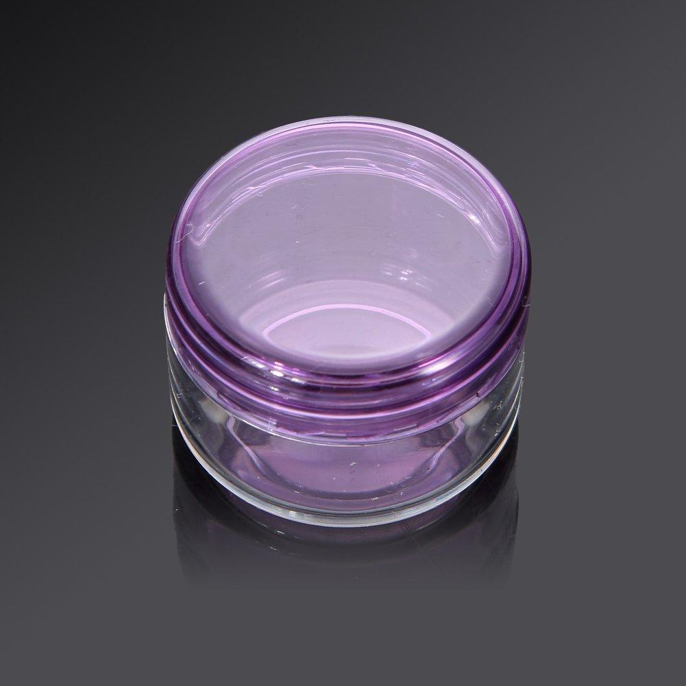 Demiawaking 10 Pcs Frasco Envase Botella Tarro Vacío Plástico Cosmético Portátil para Sombra de Ojos Maquillaje Crema Facial (Púrpura): Amazon.es: Hogar