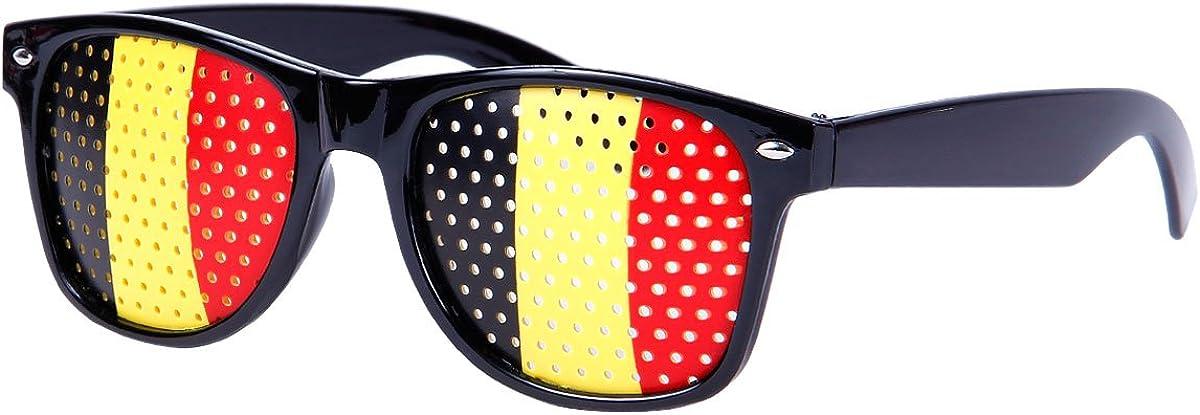 Frankreich Russland England Portugal Spanien Alsino WM Fanbrille Fussball Brille L/änderbrille Gitterbrille Deutschland Schweiz Italien Kroatien usa, Brasilien