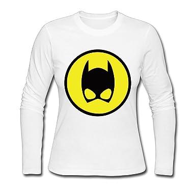 LALAYAY Womens Catwoman Emblem Logo Long Sleeve T Shirts