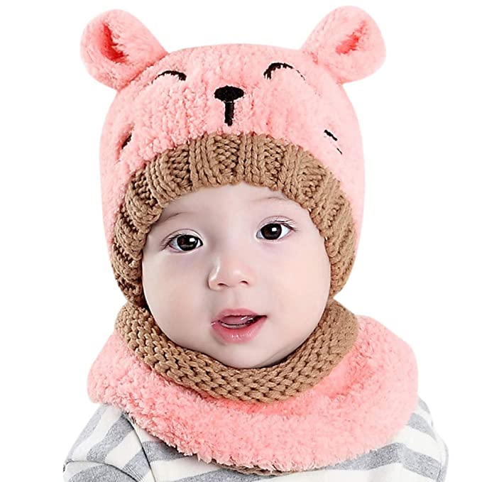 b95c08445166 Anglewolf Baby Beanie 0-2 Years Old Newborn Cute Keep Warm Winter ...