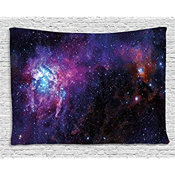 Galaxy tapestry wall hanging by ambesonne for Space themed tapestry