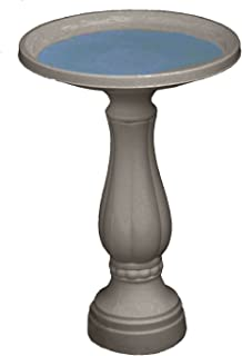 """product image for Bloem Promo Bird Bath with Pedestal, 25"""" x 17"""", Peppercorn (270-60)"""