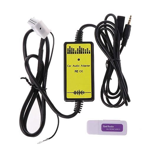 Gjyia Adaptador de CD Auxiliar USB para Coche Reproductor de MP3 ...