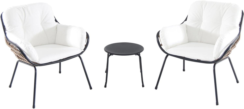 Hanover NAYA3PC-WHT Naya (3 Piece) Chat Set, White Outdoor Furniture