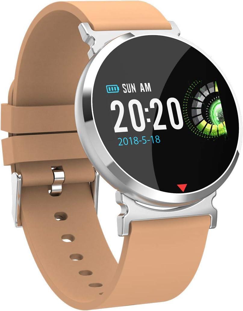 YHDQ - Reloj de pulsera de actividad cardiaca de alta gama, con monitor de ritmo cardíaco, podómetro, monitor de sueño, color dorado