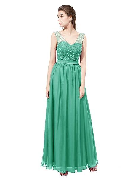 fd4c80461f7 Dresstells reg;Vestido De Fiesta Para Boda Mujer Largo Escote ...