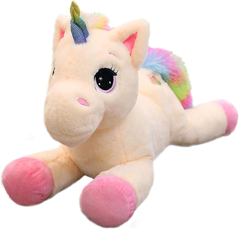 Blu 15/'/' Georgie Porgy Bambini Unicorno di Peluche Teddy con Coda Arcobaleno Multicolore Pony di Animali Farciti Regali Morbidi per Ragazze dai 3 Anni in su