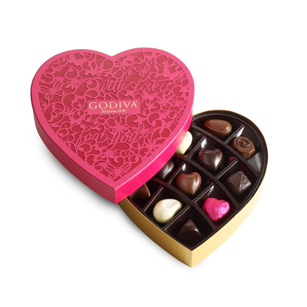 Amazon.com : Godiva Chocolatier Valentine's Day Chocolate Heart ...