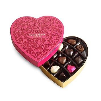 Amazon Com Godiva Chocolatier Valentine S Day Chocolate Heart Box