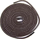 Shoeslulu 47'' Premium Round Waxed Canvas Shoelaces Bootlaces (47 in. (120 cm) Pack of 2, Dark Brown)