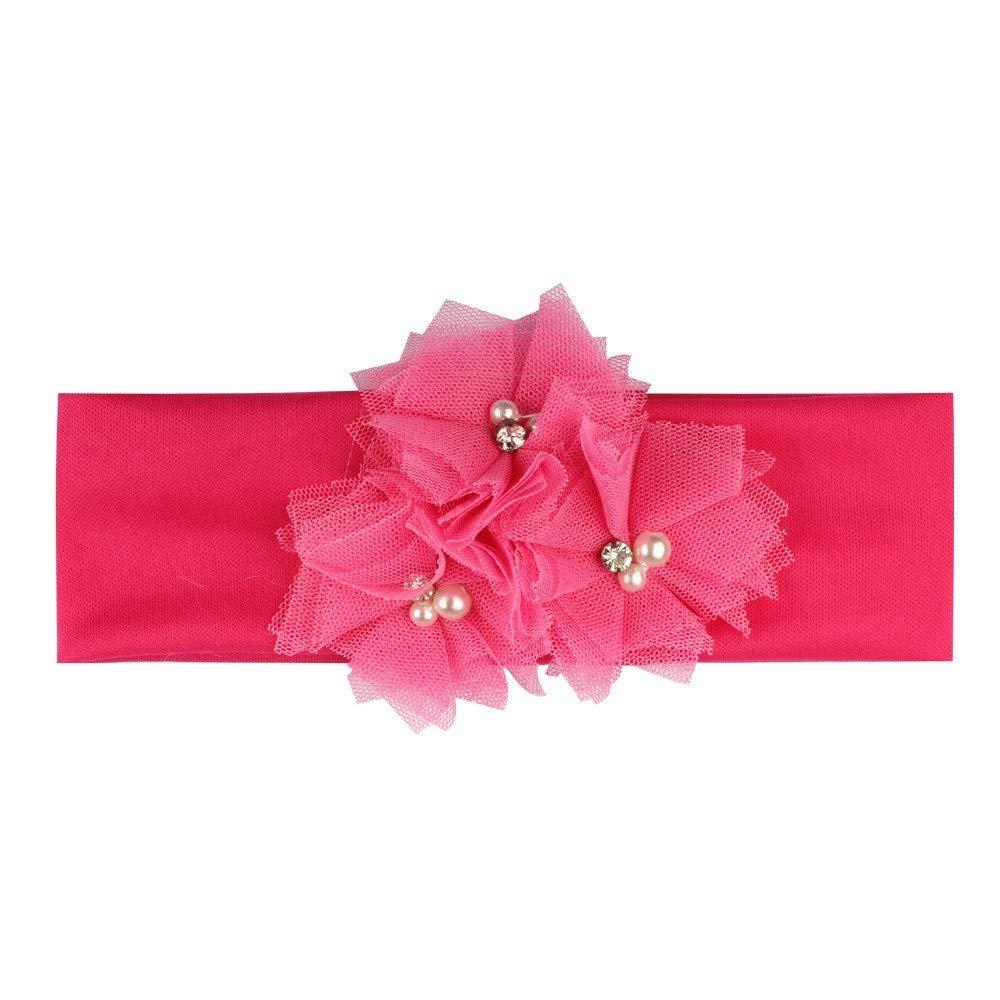 Sinwasd Filles Bandeaux /ÉLastique Cheveux,Nouvelle Mode Filles Big Bow Bande de Cheveux Accessoires pour T/êTe Florale Filles Bandeaux Hairband