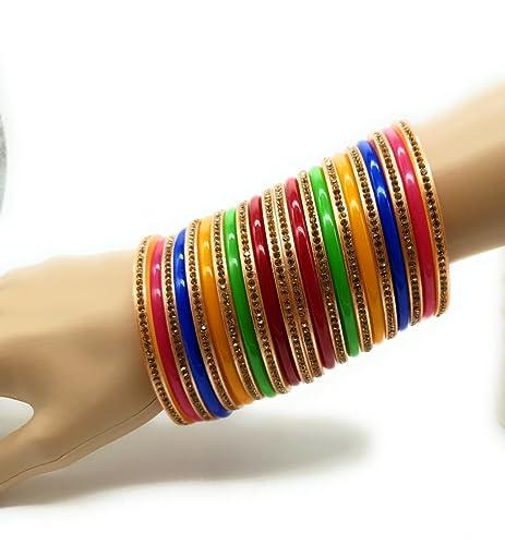 Resultado de imagen de bollywood plástico Armreifen Multicolor