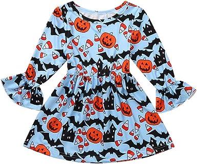 K-Youth Vestidos Niña Invierno Disfraz Halloween Estampado 1 a 5 ...