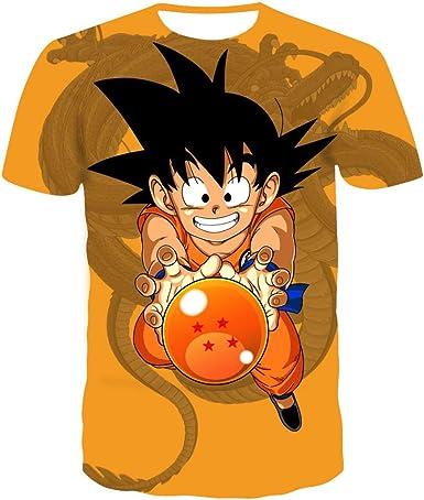Kids Boys//Girls Dragon Ball Anime 3D Print Casual T-shirt Short Sleeve Tee Tops