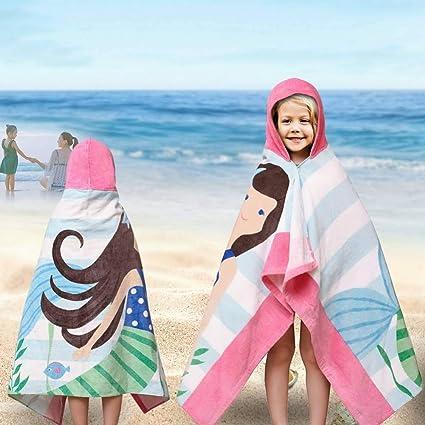 JGHNJ Toalla Playa Patrón De Algodón Playa Niños Toalla Bebé Con Capucha Toalla Bebé Niños Niñas Dibujos Animados Baño Albornoz Toallas Suaves 127X76 Cm: Amazon.es: Amazon.es