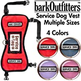 "barkOufitters Service Dog Harness, 23"" - 28"" Girth, Red"