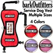 "barkOufitters Service Dog Vest Harness - Available in 4 Colors and 5 Sizes (Red, 21"" - 26"" Girth)"