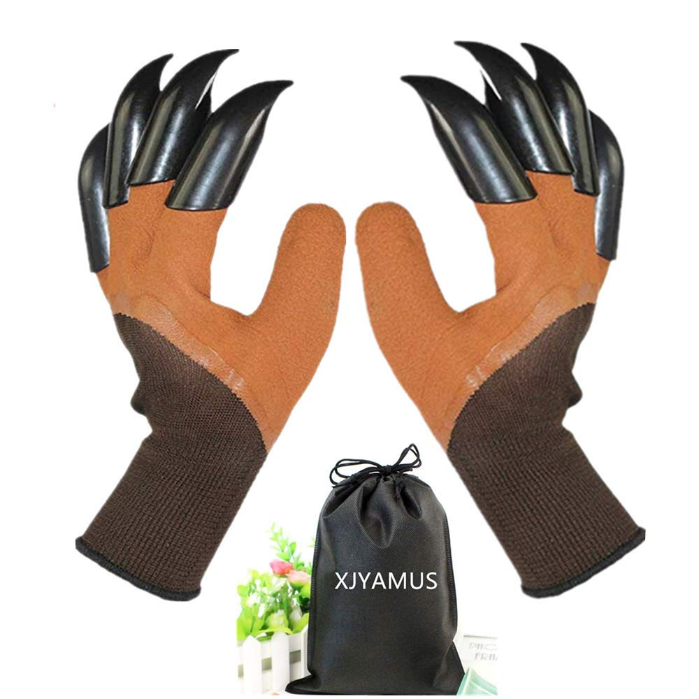 Garden Genie Gloves Waterproof Garden Gloves With Claw For Digging Planting Best Gardening Gifts For Women And Men Brown