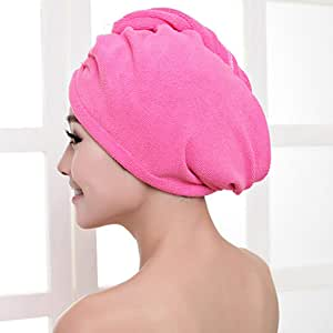 Superfine Fiber Bath Hair Dry Hat Shower Cap Soft Strong Water Absorbing Quick Dry Head Towel Cap Hat for Bathing