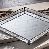 J Devlin Tra 102 Glass Vanity Tray Mirrored Decorative Jewelry Display Dresser Home Decor