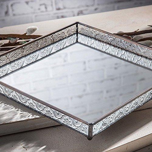 J Devlin Tra 102 Glass Vanity Tray Mirrored Decorative Jewelry Display Dresser Home Decor