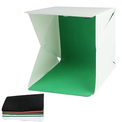 Mini Caja de iluminación de estudio fotográfico Fotografía Telón de fondo de tienda de campaña de sala de luz LED portátil