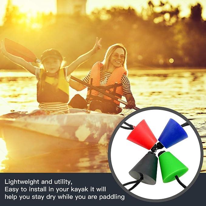 guojiwu 4PCS Kayak Bouchons Bateau Scupper Bouchon Kayak Bouchon de vidange Trous de vidange Bouchon Bung avec Longe Kayak Cano/ë Rouge