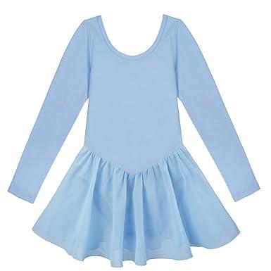 IEFIEL Vestido Maillot de Ballet Danza Clásico para Niña Maillot ...