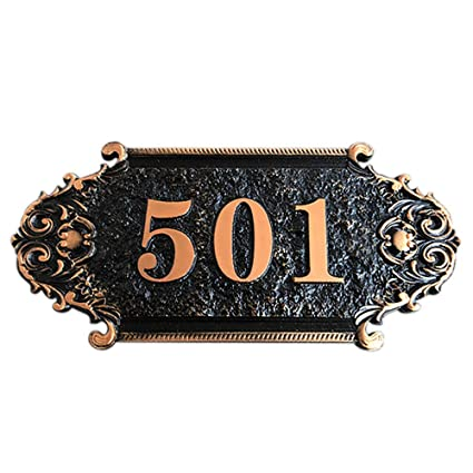 Personalized Custom House Home Number Street Address Metal Sign