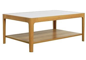 Hygena 1 Shelf Coffee Table Cream And Oak Effect Amazon Co Uk