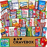 CraveBox Snacks 45 Count Ultimate Care Package Variety Box Gift Pack Assortment Basket Bundle Mixed Bulk Sampler Treats Bars Chips Candy Cookies College Finals Students Office Trips Summer Camp Boy