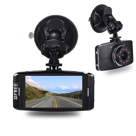 sifree 3 LCD FHD 1080P gran angular de 170 ° salpicadero cámara VHS Auto Car DVR con detección de movimiento Sensor G, WDR, ciclo de grabación, ...