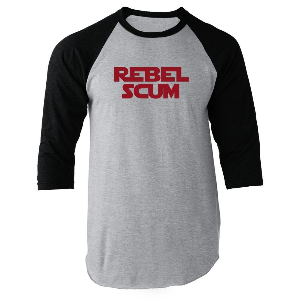 Rebel Scum Black 3XL Raglan Baseball Tee Shirt