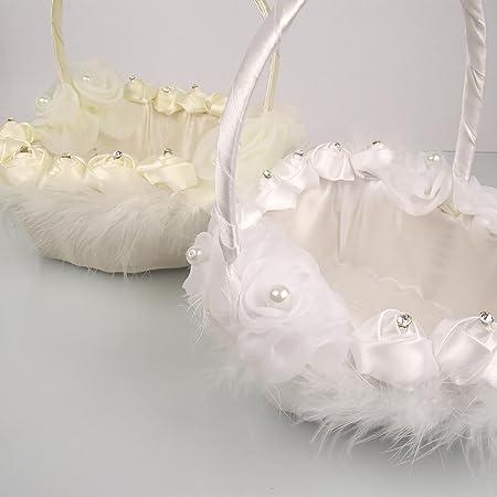 Large Flower Girl Basket