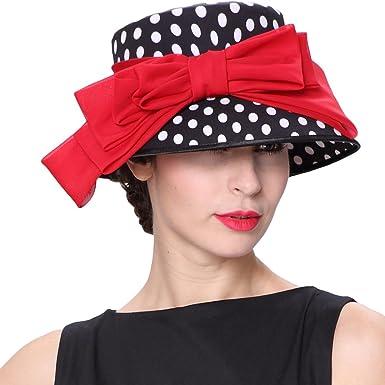 June s young Women Hat Vintage 1950 s  Audrey Hepburn  Hat Wedding Hat Red  Black ( b1a97b606522