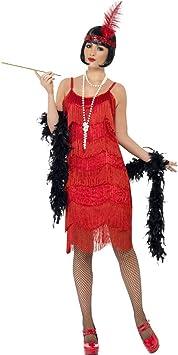 NET TOYS Disfraz años 20 de charlestón con Flecos Vestido ...
