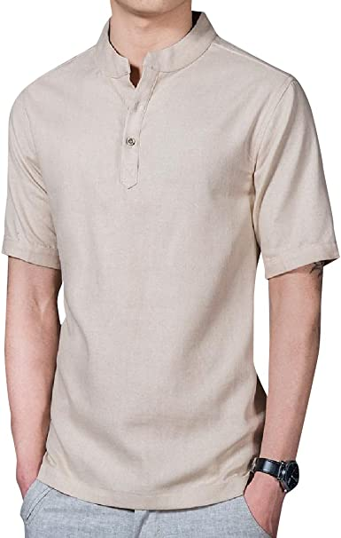 Abetteric Men Fashion Formal Reg and Big and Tall Sizes Solid-Colored Shirt