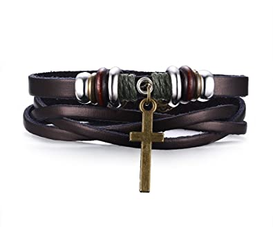 Amazon Com Mens Womens Cross Bracelet For Christian Jesus Lord